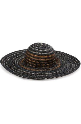 Пляжная шляпа с соломенной отделкой | Фото №2