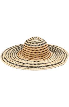 Пляжная шляпа с соломенной отделкой Missoni бежевого цвета   Фото №1