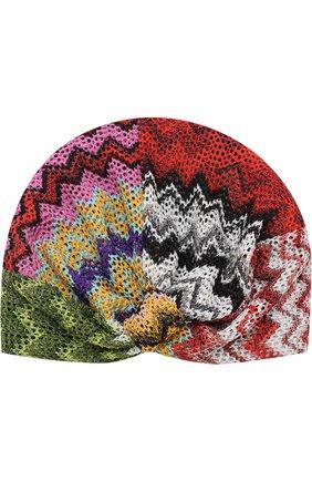 Вязаный тюрбан из вискозы Missoni разноцветного цвета | Фото №1