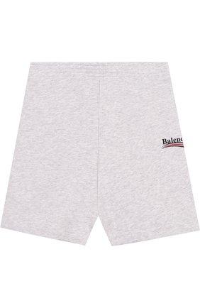 Хлопковые шорты с логотипом бренда | Фото №1