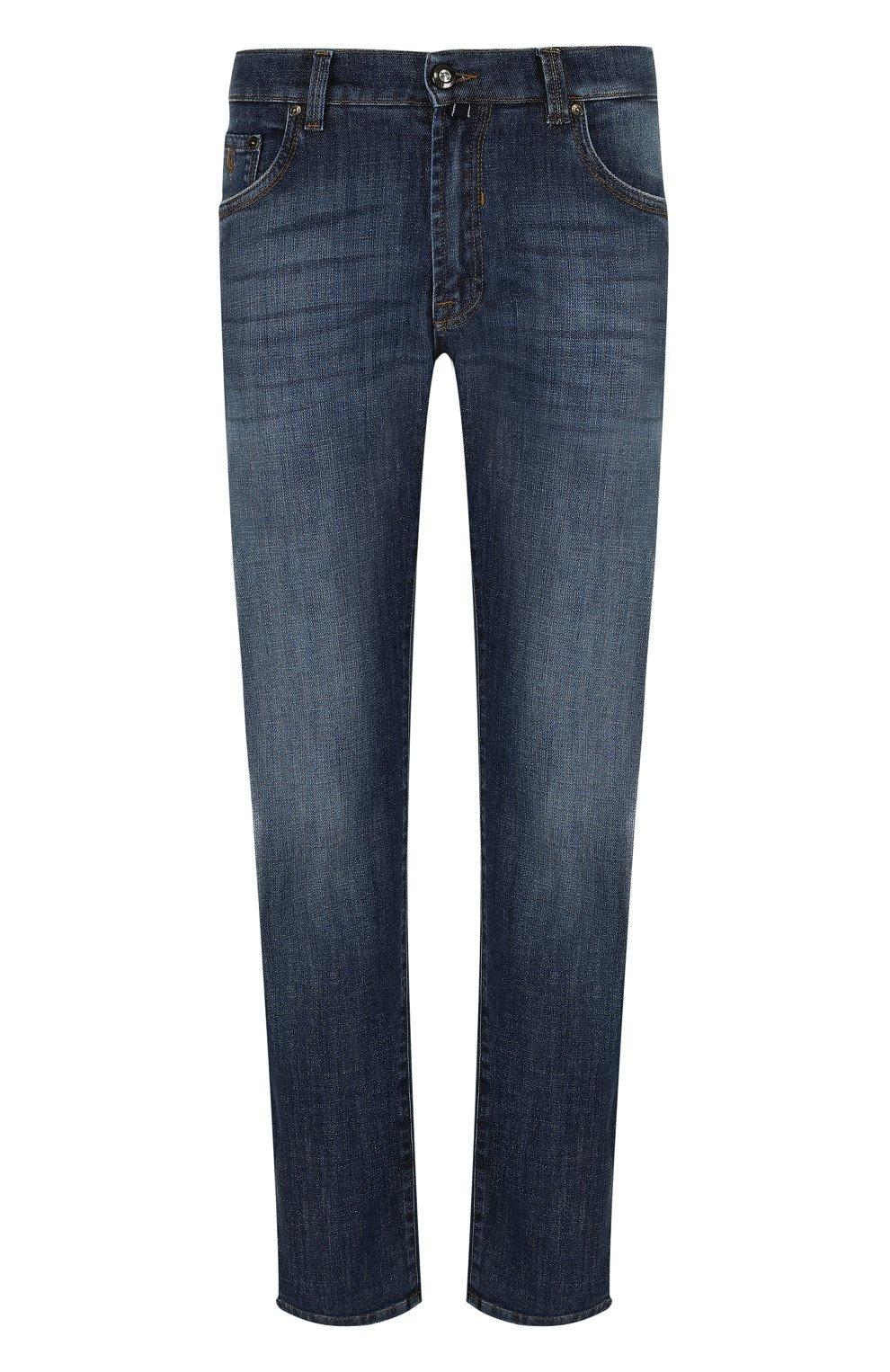 Мужские джинсы прямого кроя ANDREA CAMPAGNA синего цвета, арт. ACCR284444 | Фото 1