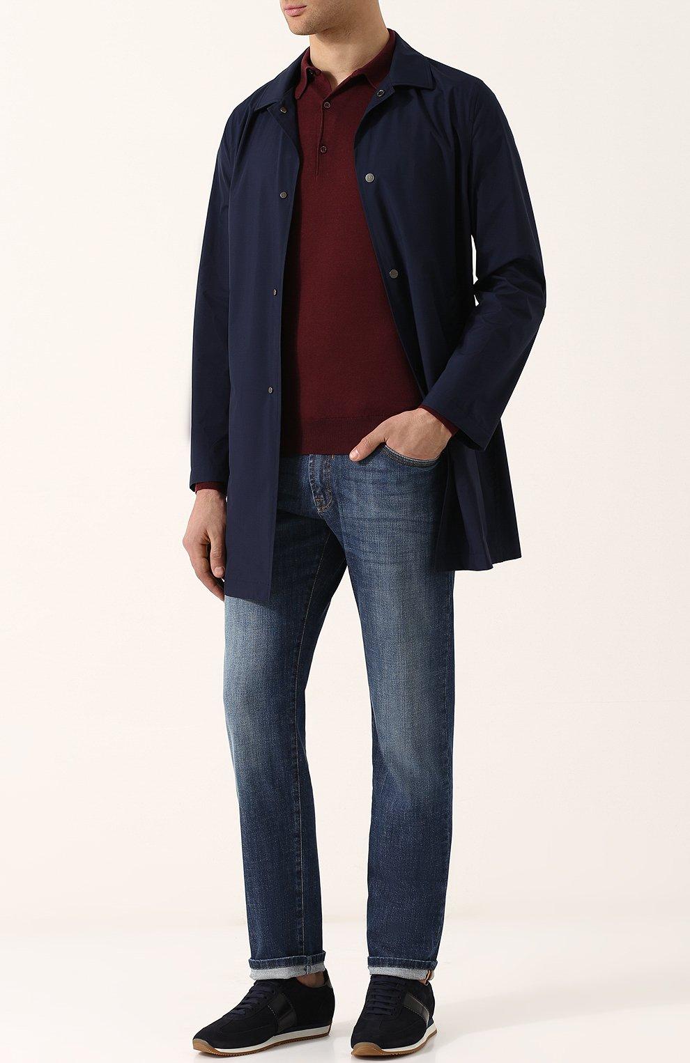 Мужские джинсы прямого кроя ANDREA CAMPAGNA синего цвета, арт. ACCR284444 | Фото 2