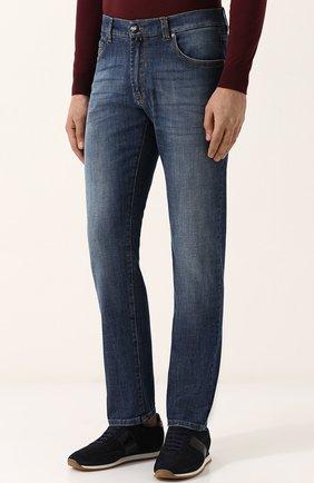 Мужские джинсы прямого кроя ANDREA CAMPAGNA синего цвета, арт. ACCR284444 | Фото 3