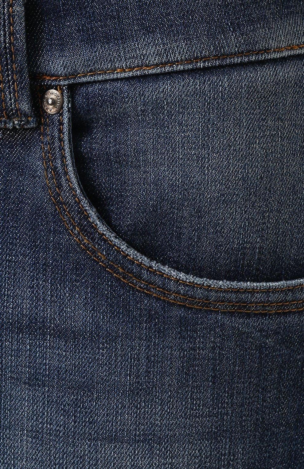 Мужские джинсы прямого кроя ANDREA CAMPAGNA синего цвета, арт. ACCR284444 | Фото 5
