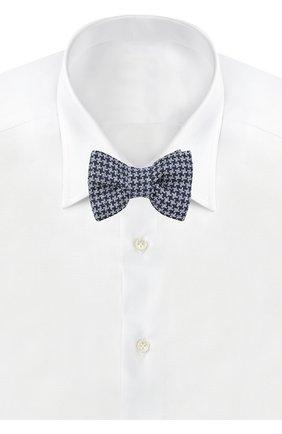 Мужской галстук-бабочка из смеси шелка и льна TOM FORD синего цвета, арт. 3TF66/4CH | Фото 2