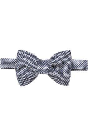 Мужской шелковый галстук-бабочка TOM FORD голубого цвета, арт. 3TF31/4CH | Фото 1