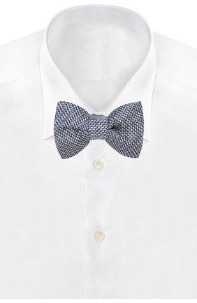Мужской шелковый галстук-бабочка TOM FORD голубого цвета, арт. 3TF31/4CH | Фото 2