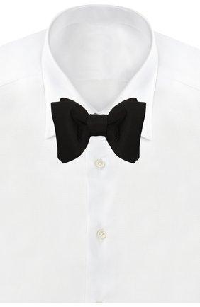 Мужской шелковый галстук-бабочка TOM FORD черного цвета, арт. TFA99/4T7 | Фото 2