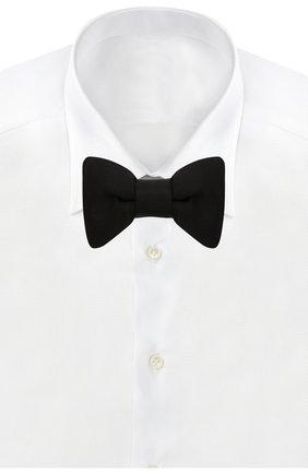 Мужской шелковый галстук-бабочка TOM FORD черного цвета, арт. TFA99/4CH | Фото 2