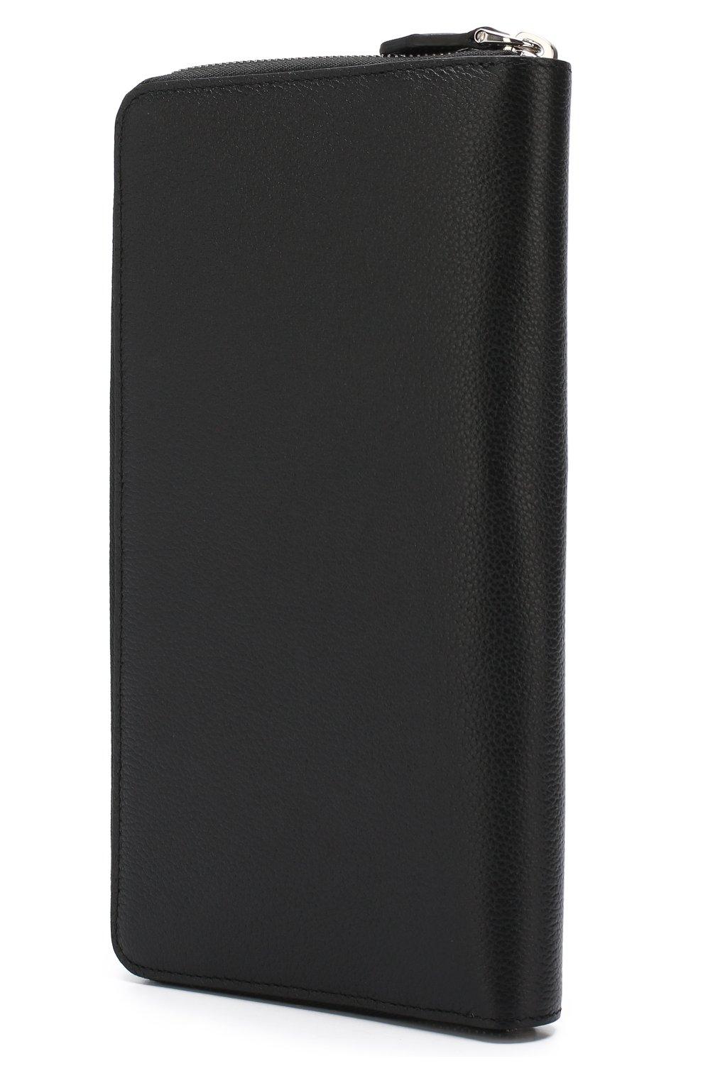 Кожаный футляр для документов на молнии с отделениями для кредитных карт   Фото №2