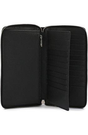 Кожаный футляр для документов на молнии с отделениями для кредитных карт   Фото №3