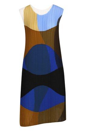 Плиссированное платье-миди без рукавов   Фото №1
