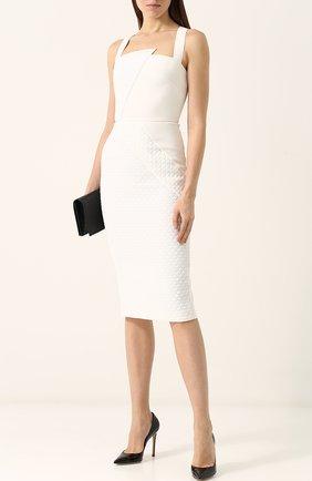 Однотонное платье-футляр без рукавов Roland Mouret белое | Фото №1