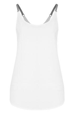 Однотонный спортивный топ Heroine Sport белого цвета | Фото №1