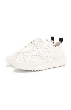 Женские кожаные кроссовки TOD'S белого цвета, арт. XXW80A0W590JUSB001 | Фото 1
