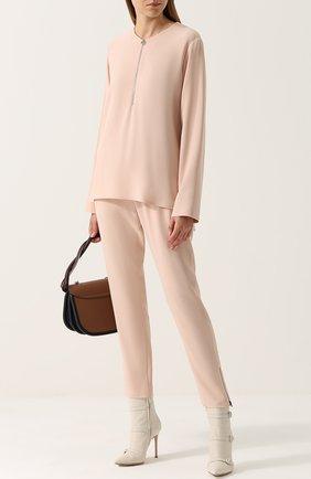 Женская блузка из вискозы STELLA MCCARTNEY светло-розового цвета, арт. 341360/SCA06 | Фото 2