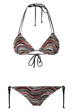 Раздельный купальник с треугольным бра Missoni разноцветный   Фото №1