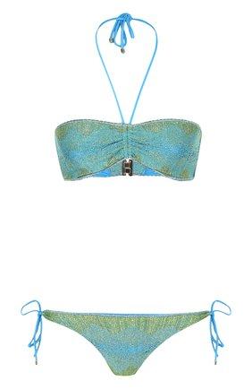 Раздельный купальник с металлизированной нитью Missoni зеленый | Фото №1