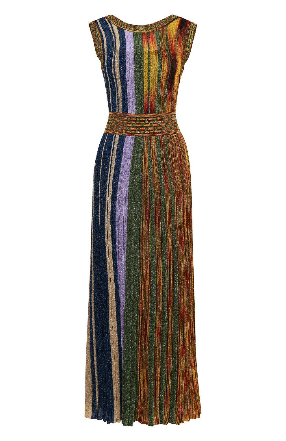 Приталенное вязаное платье-миди без рукавов | Фото №1