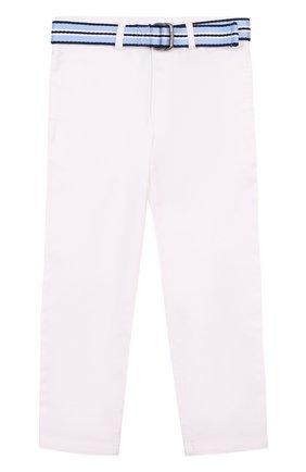 Хлопковые брюки с ремнем   Фото №1