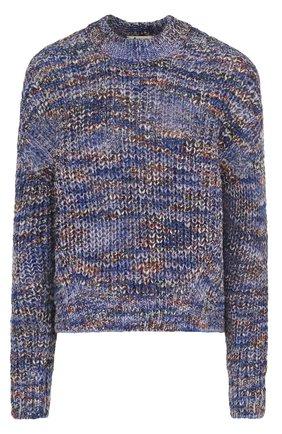 Пуловер свободного кроя с круглым вырезом Acne Studios голубой | Фото №1