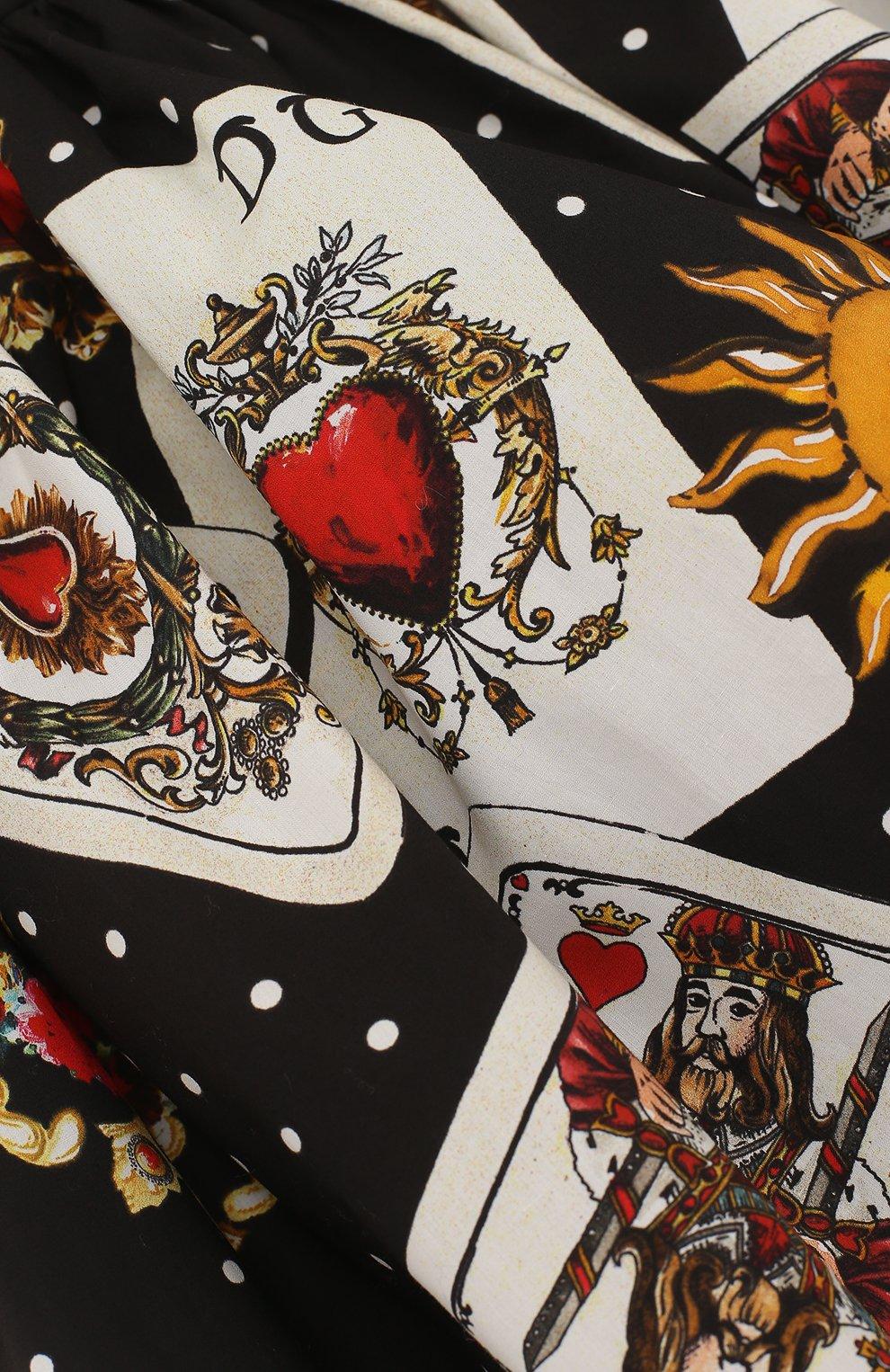 Хлопковая юбка свободного кроя с принтом | Фото №3