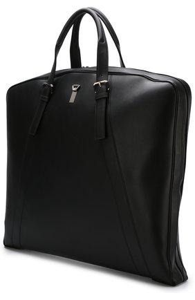 Мужская кожаный кофр на молнии BRIONI черного цвета, арт. 0ISJ0L/P6751 | Фото 2