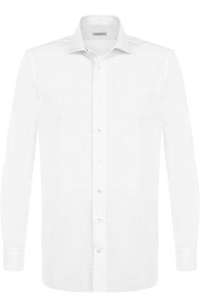 Мужская хлопковая сорочка с воротником акула ZILLI белого цвета, арт. MFP-00101-01703/0002 | Фото 1