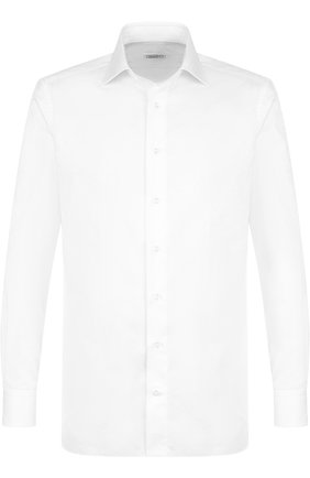 Мужская хлопковая сорочка с воротником кент ZILLI белого цвета, арт. MFP-00502-04708/0005 | Фото 1