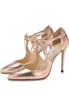 Туфли Vanessa 100 из металлизированной кожи на шпильке | Фото №1
