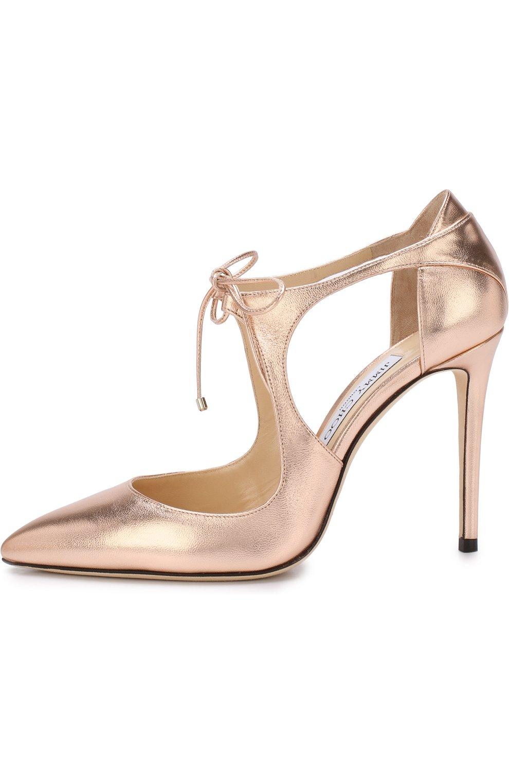 Туфли Vanessa 100 из металлизированной кожи на шпильке | Фото №3