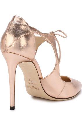 Туфли Vanessa 100 из металлизированной кожи на шпильке | Фото №4
