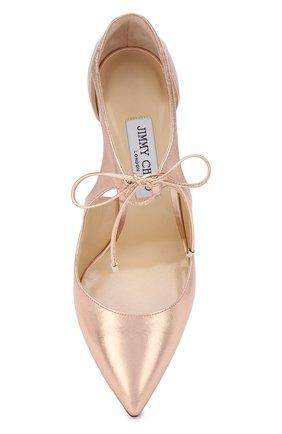 Туфли Vanessa 100 из металлизированной кожи на шпильке | Фото №5