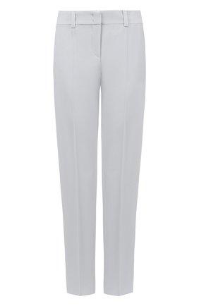 Однотонные шерстяные брюки со стрелками | Фото №1