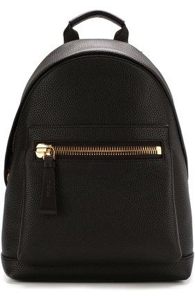 Кожаный рюкзак с внешним карманом на молнии | Фото №1
