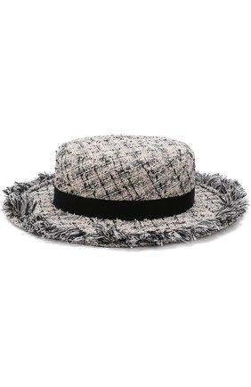 Шляпа из твида с лентой | Фото №1