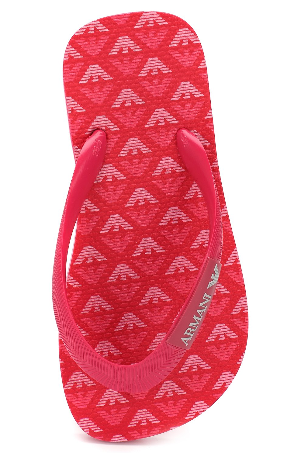 Детские шлепанцы с логотипом бренда EMPORIO ARMANI фуксия цвета, арт. 405517/CC100   Фото 4