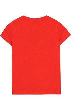 Хлопковая футболка с надписью | Фото №2