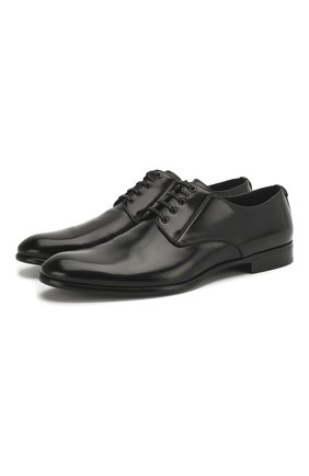 Мужской кожаные дерби napoli DOLCE & GABBANA черного цвета, арт. 0111/A10306/AC460 | Фото 1