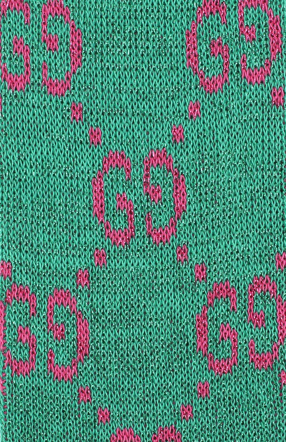 Женские гольфы GUCCI зеленого цвета, арт. 476525/3G199 | Фото 2
