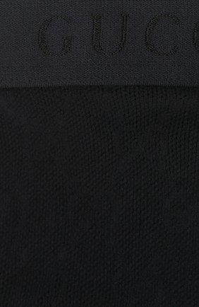 Женские однотонные колготки с логотипом бренда GUCCI черного цвета, арт. 465727/3G245 | Фото 2