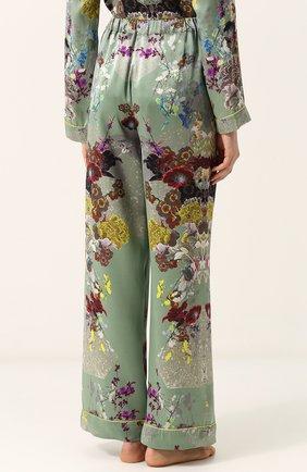 Шелковая пижама с контрастным принтом | Фото №5