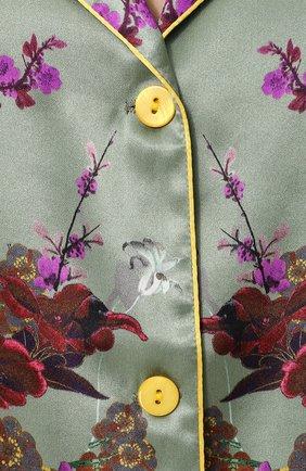 Шелковая пижама с контрастным принтом | Фото №6