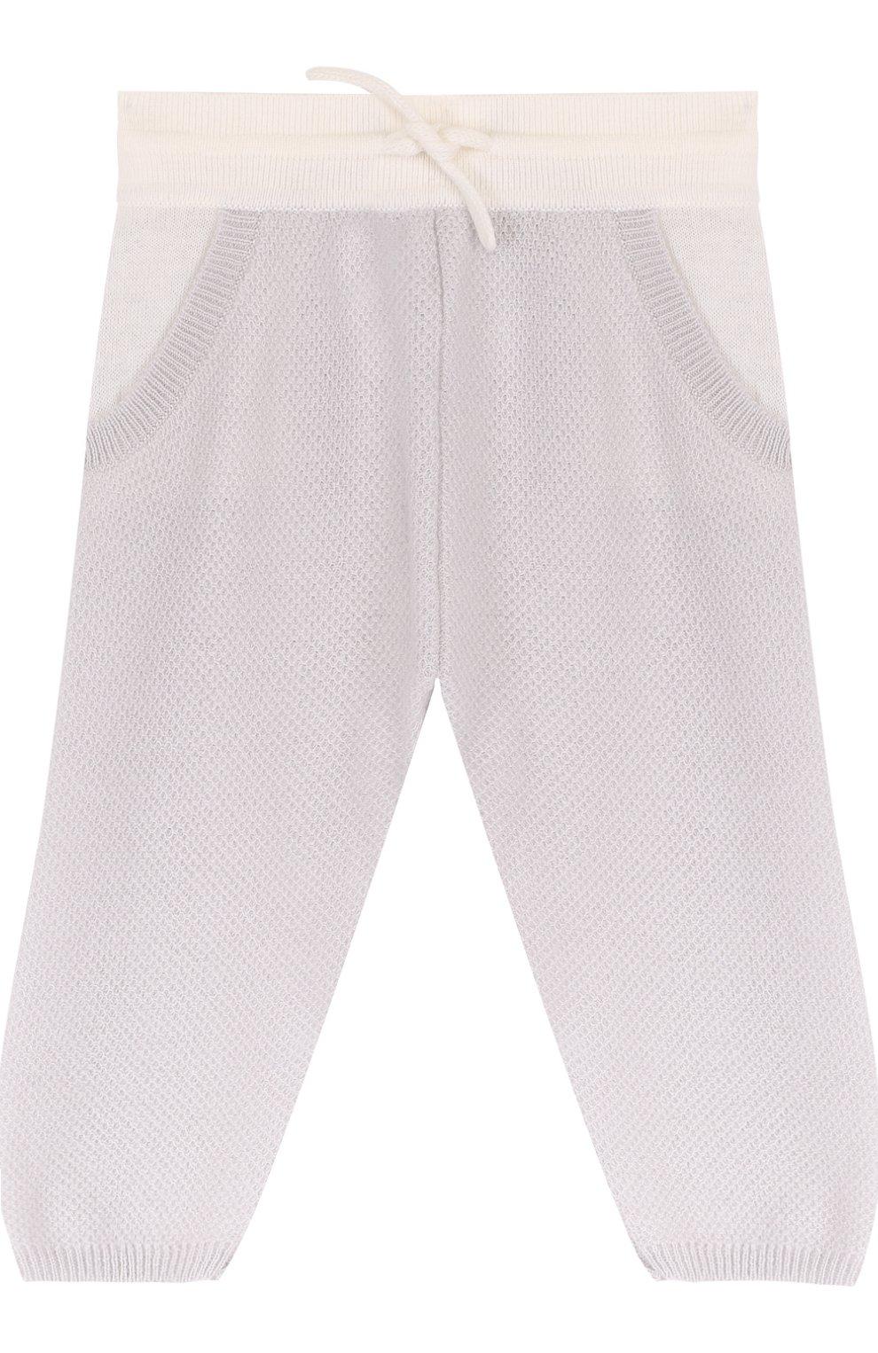 Кашемировые брюки фактурной вязки | Фото №1