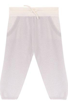 Детские кашемировые брюки фактурной вязки LORO PIANA серого цвета, арт. FAG2126 | Фото 1