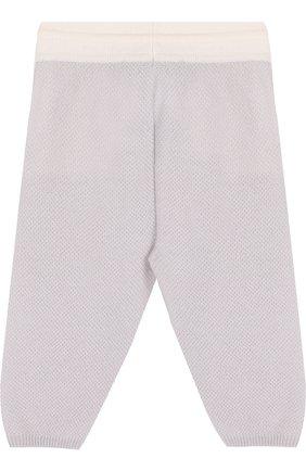 Детские кашемировые брюки фактурной вязки LORO PIANA серого цвета, арт. FAG2126 | Фото 2