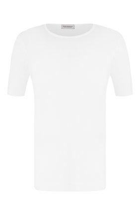 Мужской хлопковый джемпер JOHN SMEDLEY белого цвета, арт. BELDEN | Фото 1