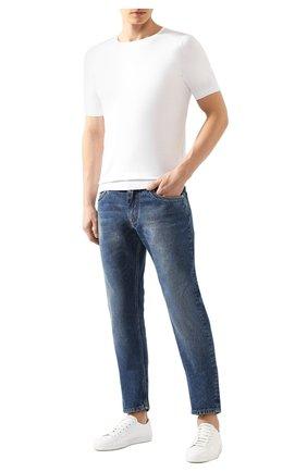 Мужской хлопковый джемпер JOHN SMEDLEY белого цвета, арт. BELDEN | Фото 2