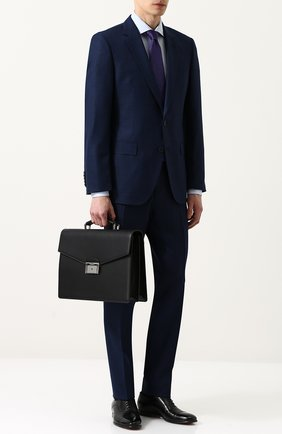 Кожаный портфель с клапаном | Фото №2