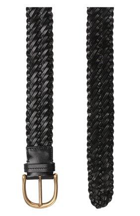 Плетеный кожаный ремень с металлической пряжкой | Фото №2
